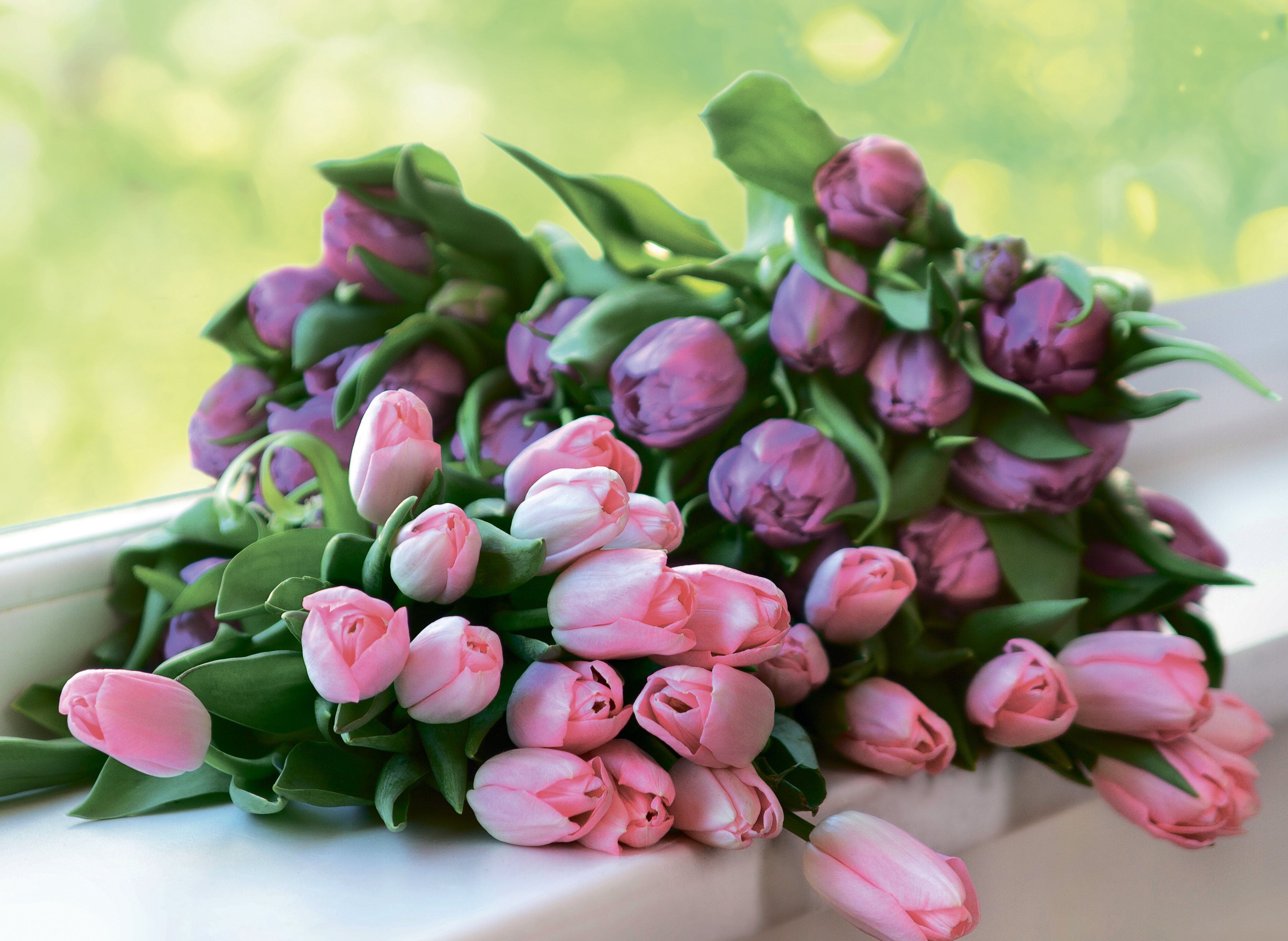 открытка охапка цветов качестве